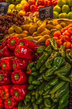 Fruits and vegetables stall in La Boqueria, BARCELONA  SPAIN  photo