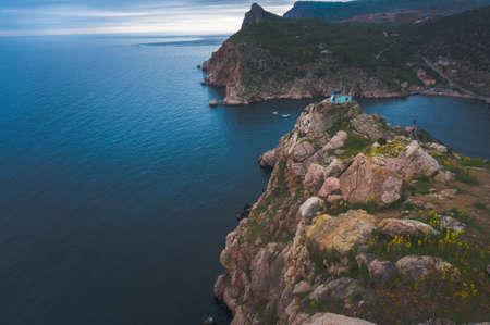 vicinity: Bay of Balaclava, vicinity of Sevastopol Crimean mountains Stock Photo