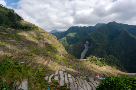 feed the poor: beautiful mountains with rice plantations in the mountains of the Philippine Islands