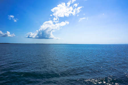 views of the blue at the horizon on a blue sea