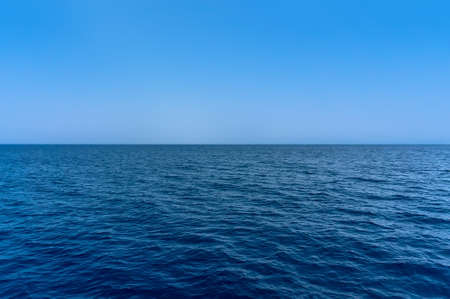 the Blue sea water surface on sky