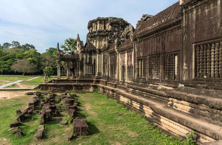 lost city: Angkor Wat Cambodia. The ancient stone temple of the Khmer civilization in the lost city