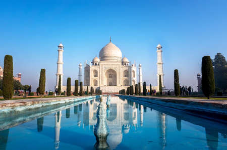 the most famous Indian Muslim mausoleum in Agra in India Stock Photo