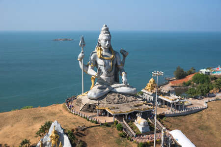 Statue of Lord Shiva in Murudeshwar Temple in Karnataka, India Stock Photo - 74702717