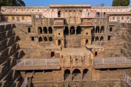 chand baori: Alcoves at the Chand Baori Stepwell in Abhaneri, Rajasthan, India.