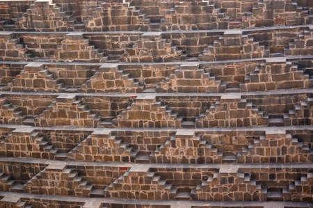 baori: Giant stepwell of abhaneri in rajasthan, india