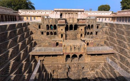 baori: well Chang baori located near Jaipur and Agra. India 2017 Editorial