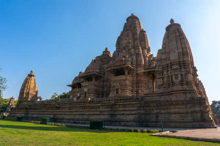 kamasutra: Devi Jagdambi Temple, Western Temples in Khajuraho Temples of love Madya Pradesh, India. Unesco World Heritage Site Stock Photo