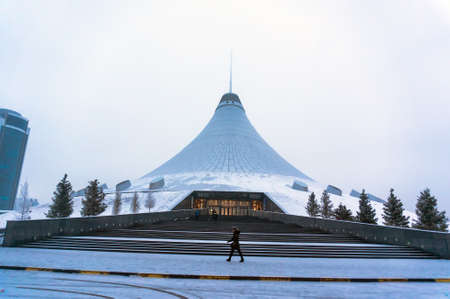 ASTANA, KAZAKHSTAN - CIRCA January 2017: Astana, the capital of Kazakhstan. This city will be the site of Expo 2017. Photo taken in a cold winter day. Editorial