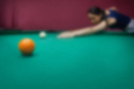 Blur image of billiard table, use for background. space for text