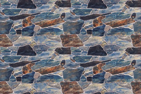 Seamless texture stone wall. Seamless background. marble pattern Banco de Imagens - 98228871