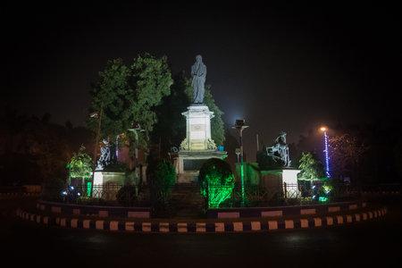 monument of Sri Aurobindo Kolkata India. 12 January 2018
