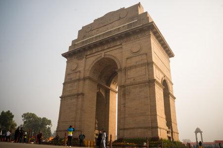 New Delhi, India, January 27, 2018 : Canopy and India Gate in New Delhi India. Republic day