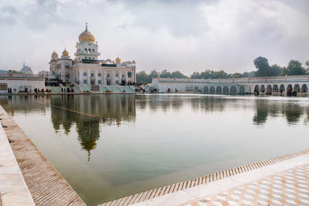 Gurdwara Bangla Sahib is the most prominent Sikh gurdwara. A large pond in front of the temple