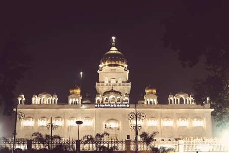 Gurdwara Bangla Sahib is the most prominent Sikh gurdwara. India, new Delhi. January 7, 2018