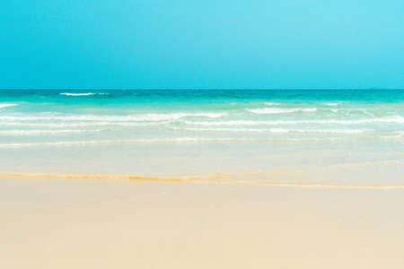Tropisch zandstrand. Anse Georgette, Praslin-eiland, Seychellen - vakantieachtergrond