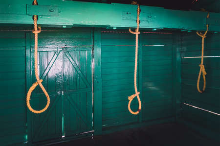 Gallows used by the cruel British in the Cellular jail to exterminate Indian political leaders .