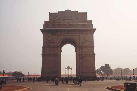 India Gate Memorial in Delhi in India. A war memorial on Rajpath road