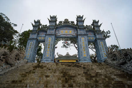 Da nang, Vietnam - JANUARY 07, 2019: The Gate of Ba Na Hills Mountain.