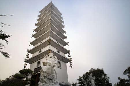 Linh Phong Stupa at Ba Na Hills near Da Nang in Vietnam. Banco de Imagens