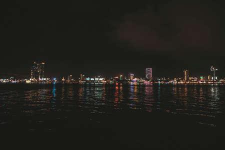 Da Nang by night. DaNang city in the center of Vietnam.