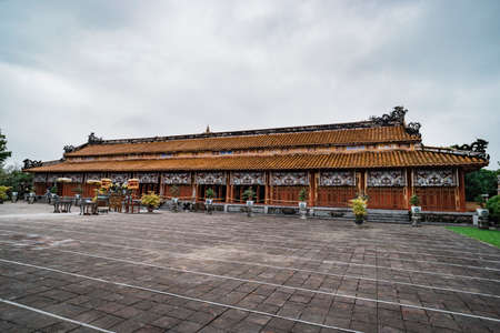 Thai Hoa Palace in the site of Imperial Palace and Citadel in Hue Vietnam