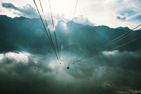 Sa Pa, Vietnam - Cable Car at Fansipan, the best view sapa in vietnam.