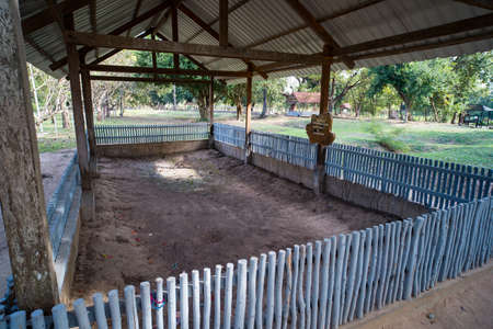 The Killing Fields in Cambodia. The place where the mass executions carried out by the Khmer Rouge took place. genocide in Cambodia.