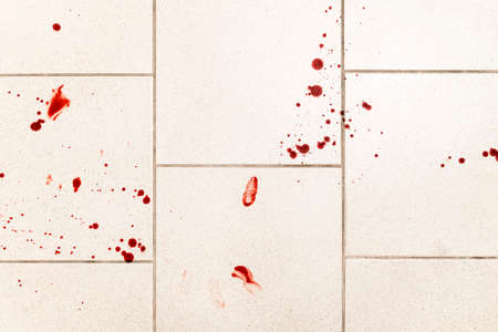 violence conceptual background which shows blood drops and splash is scary and dirty. Stock Photo