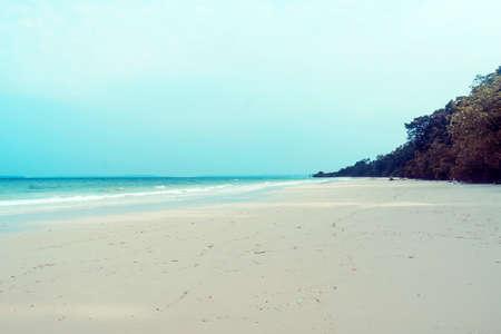 Tropical andaman seascape scenic off mai khao beach Stock Photo