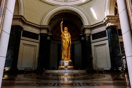 November 26, 2019, Havana, Cuba: Statue of the Republic inside Capitolio Cuba's parliament building