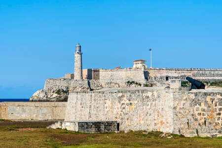 Beautiful view of the Lighthouse in the Old Havana City, Capital of Cuba Stock Photo