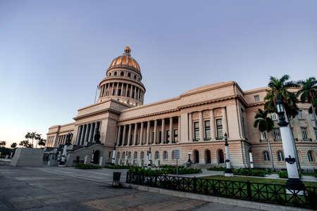 Das Kapitol in La Habana Vieja, Kuba, Karibik Standard-Bild
