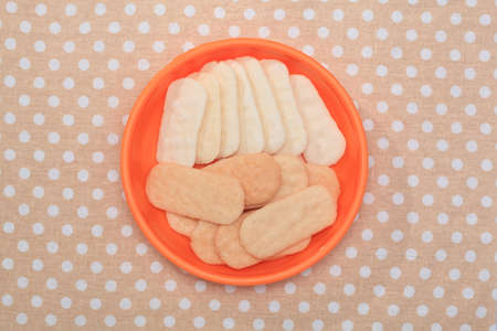 biscuits: Biscuits in the plate Stock Photo