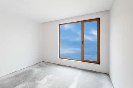 unfinished: Empty unfinished interior Stock Photo