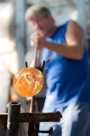 glassblower: Handmade figures of melted glass