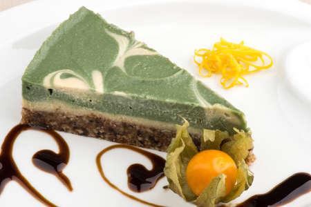 rebanada de pastel: torta vegana