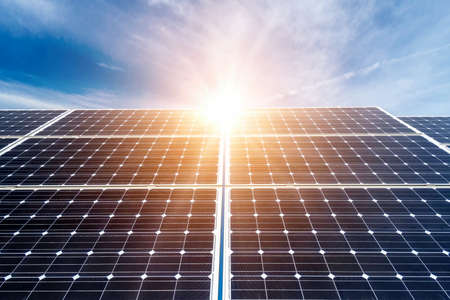 green energy: photovoltaic panels - alternative electricity source