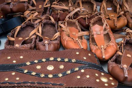 bulgarian: Traditional Bulgarian lather shoes - tsarvuli