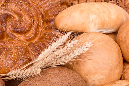 kinds: still life of different kinds of bread Stock Photo