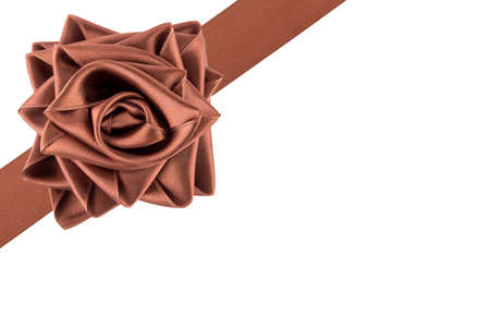tied: Ribbon tied as a rose