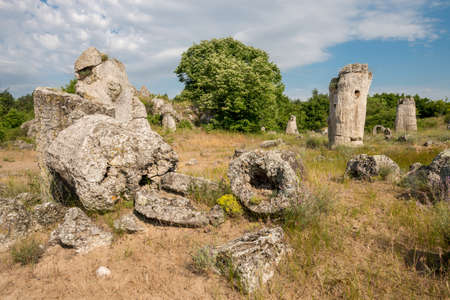 good posture: Pobiti kamani - phenomenon rock formations in Bulgaria near Varna