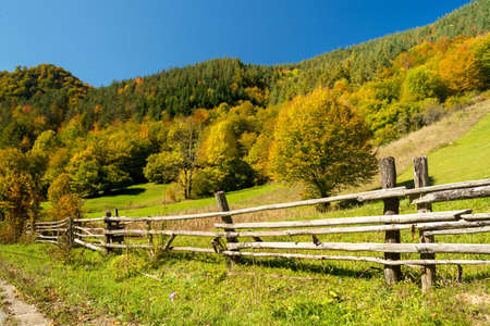troyan: Autumn beautiful landscape near Troyan, Bulgaria