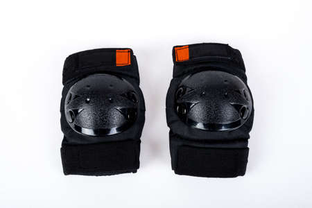 elbow pad: Protectors for knees and elbows on white background Stock Photo