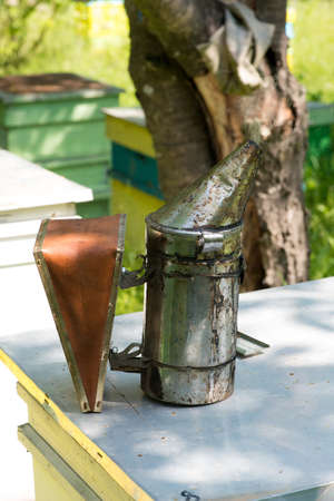 beekeeping bellows - selective focus Stock Photo
