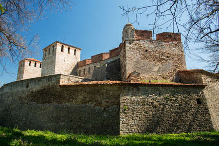 Baba Vida - old medieval fortress in Vidin, in northwestern Bulgaria. Travel destination. Imagens - 88692560
