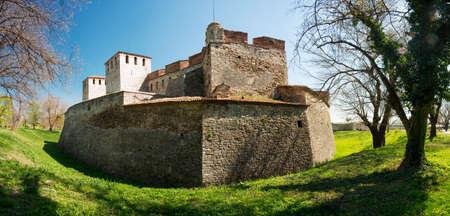 Baba Vida - oud middeleeuws fort in Vidin, in het noordwesten van Bulgarije. Reisbestemming. Stockfoto