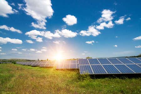 Solar panels, photovoltaic - alternative electricity source - selective focus, copy space Stock fotó