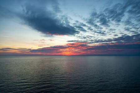 Sunset landscape at Cape Kaliakra, Bulgaria, Eastern Europe - selective focus, space for text