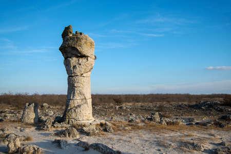 Pobiti kamani - phenomenon rock formations in Bulgaria near Varna, Eastern Europe